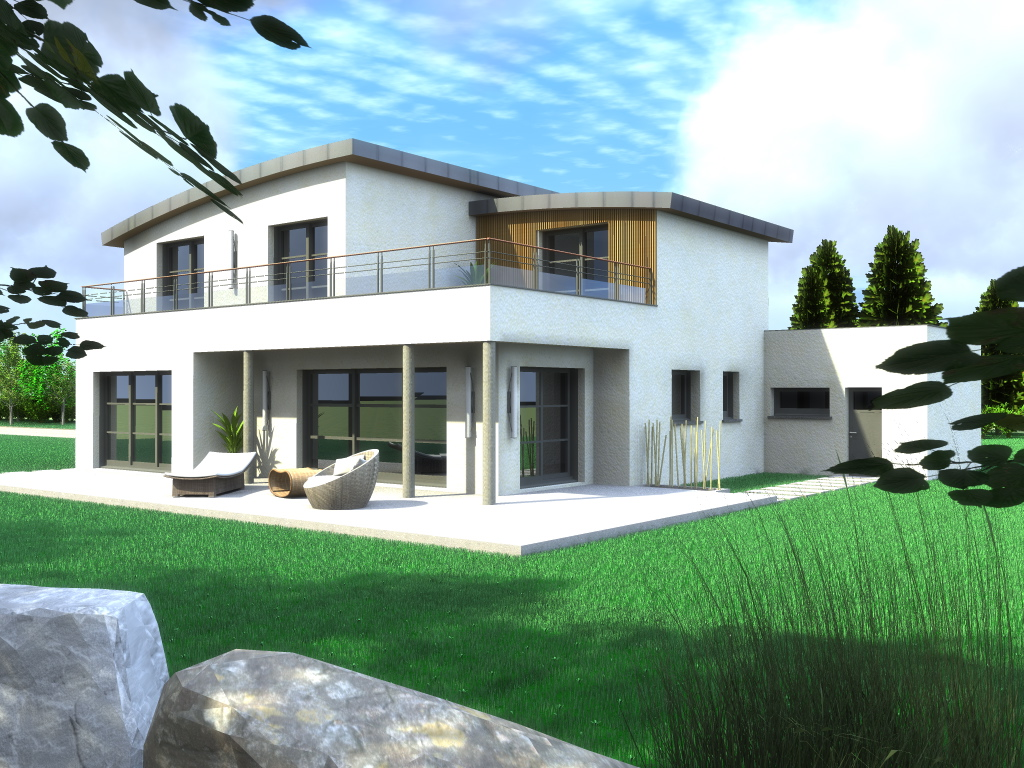 Construction maison contemporaine finist re et c tes d 39 armor - Image de maison moderne ...