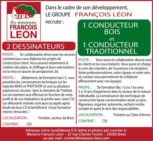 Maisons François Léon recrute